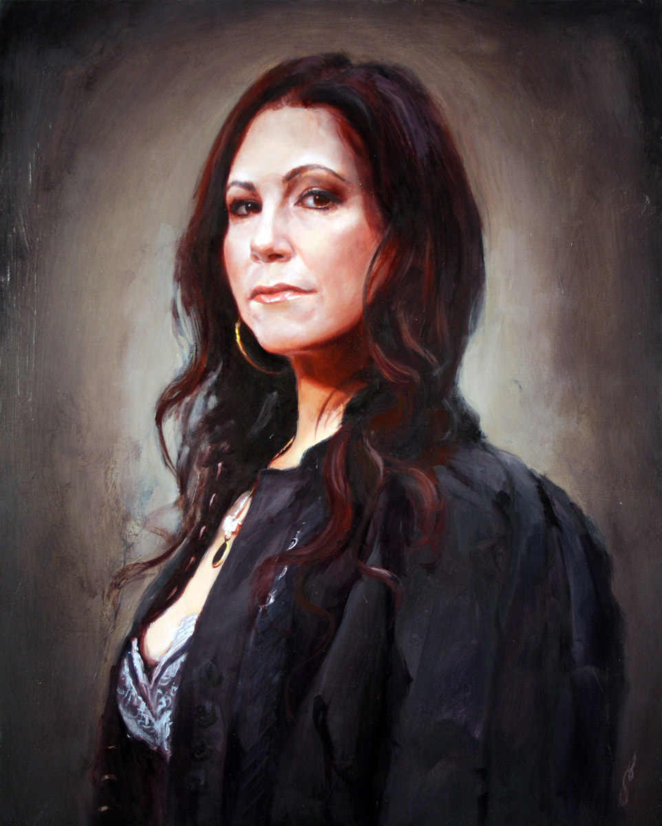 Kim Saigh painting, by Shawn Barber.